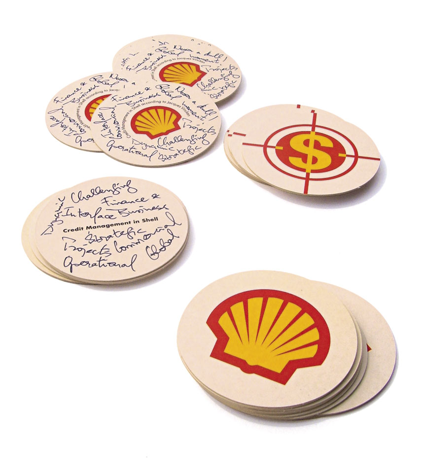 Bierviltjes voor Shell Downstream Services International B.V. - Ontwerp van Erik Cox