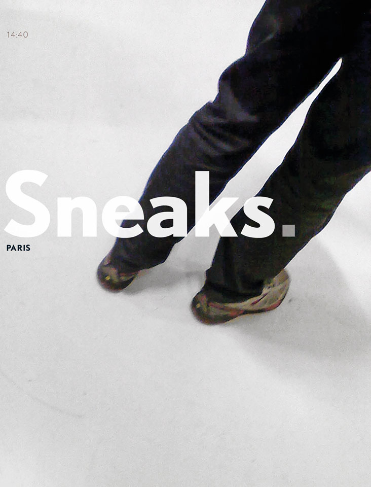 Sneaks. Paris - x-editions - ISBN 978-9082388800 - Project, photos graphic design: Erik Cox