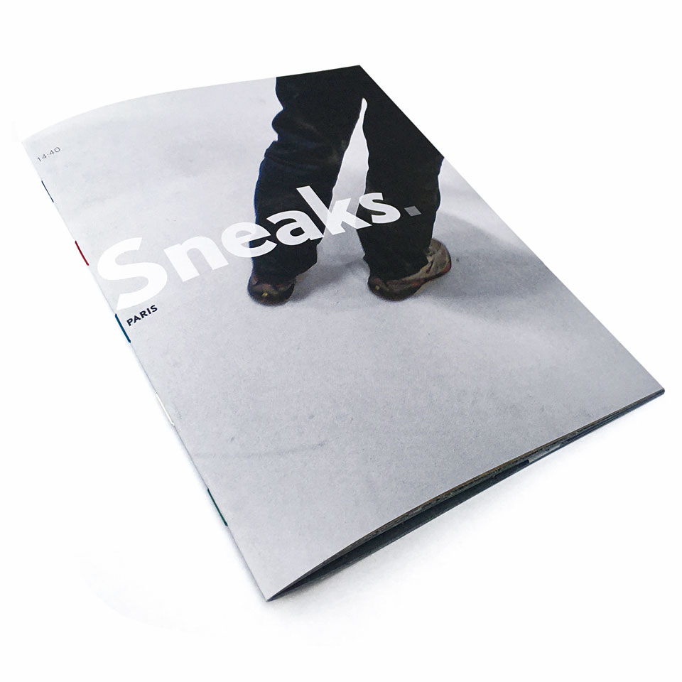 Sneaks. Paris - x-editions' first publication on sneakers and men's legs - ISBN 978-9082388800 - for sale directly or via Amazon.co.uk